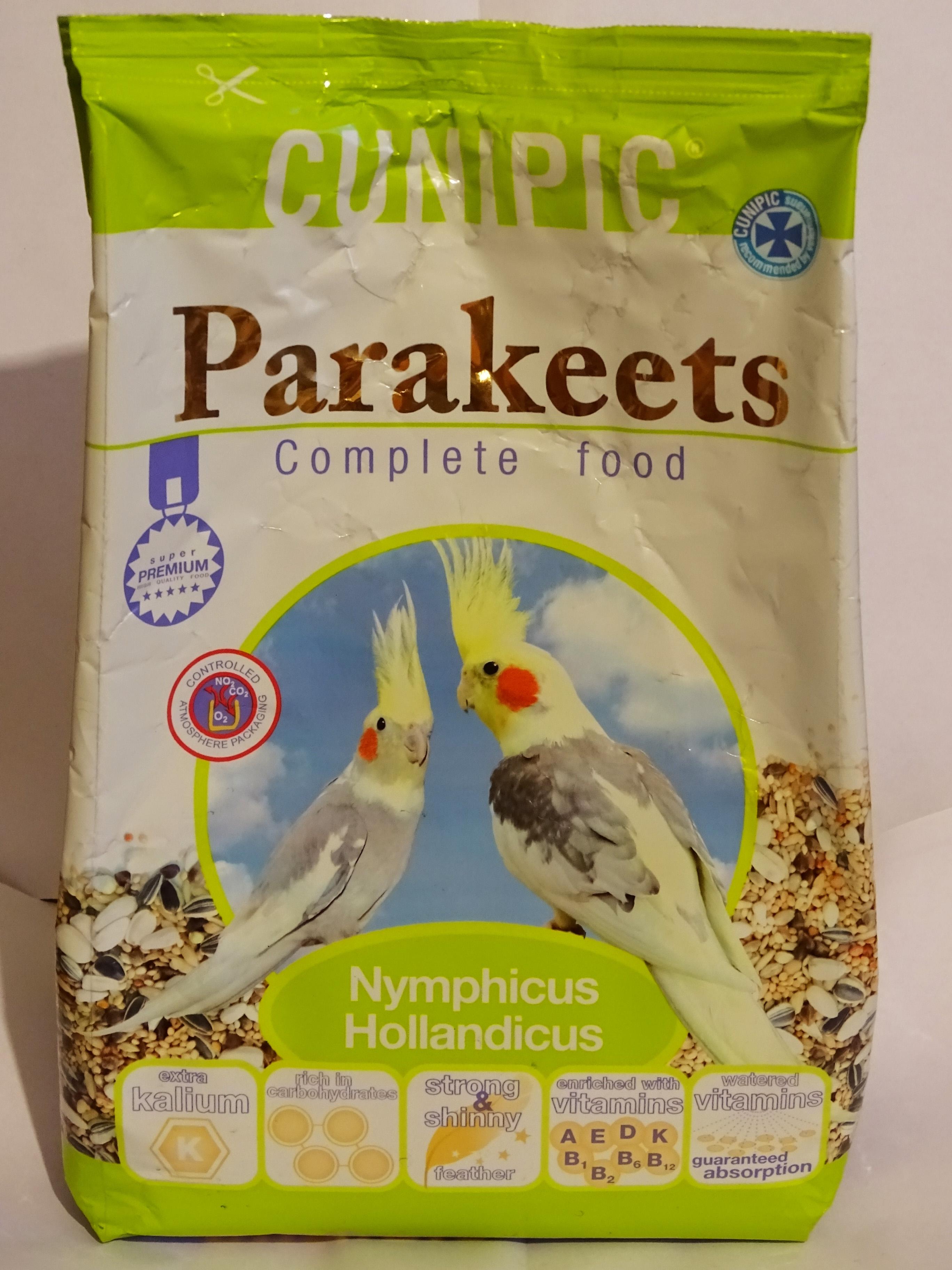 Корм для средних попугаев CUNIPIC Parakeets