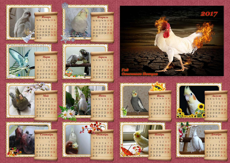 Календарь с кореллами 2017